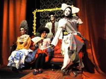 William Wycherley; frock coat; abstract costume; gentleman's club;