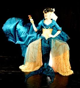 mermaid, 18th century; panier costume;