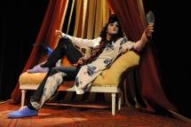 William Wycherley; frock coat; full bottomed wig; abstract costume; gentleman's club;