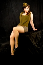 second world war; pin-up girl; forces sweetheart costume