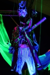 Howl's Moving Castle; UV installation art; Studio Ghibli; 18th century frock coat; ultra violet light;