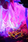 Howl's Moving Castle; UV installation art; Studio Ghibli; ultra violet light;