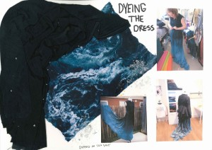 textile; marbling; sculptural; fabric manipulation; iceland