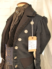 steam punk; 19th century frock coat; nineteenth century frock coat; tailoring;