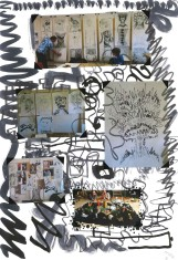 Howl's Moving Castle; Studio Ghibli; collage; experimental drawing; mark making;