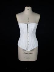 19th century corset; nineteenth century corset; boning; lacing; eyelets;