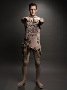 body tattoos; body art; body suit; stretch fabric; printing on fabric; body painting;